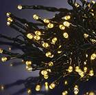 Warm white indoor / outdoor LED string lights