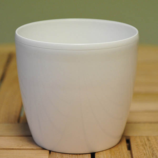 White round pot cover, 18cm