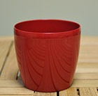Red round pot cover, 18cm