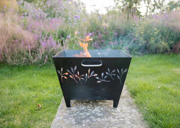 Perforated fire trough