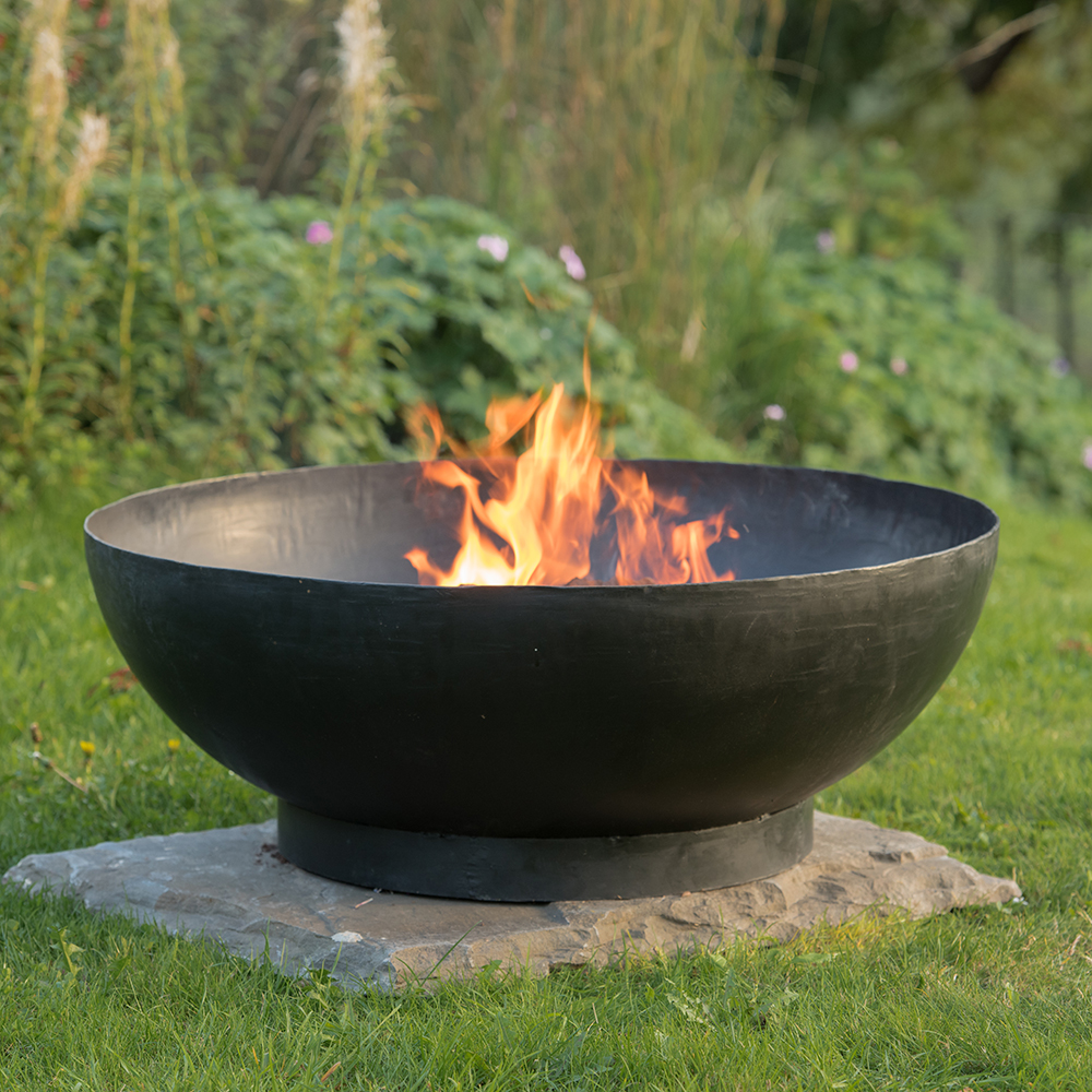 Large brazier bowl with strip base