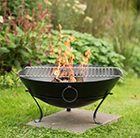 Brazier bowl with cooking grill