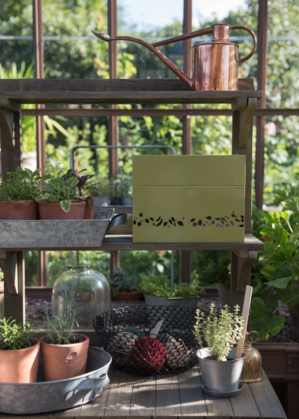 Perforated calendar seed box