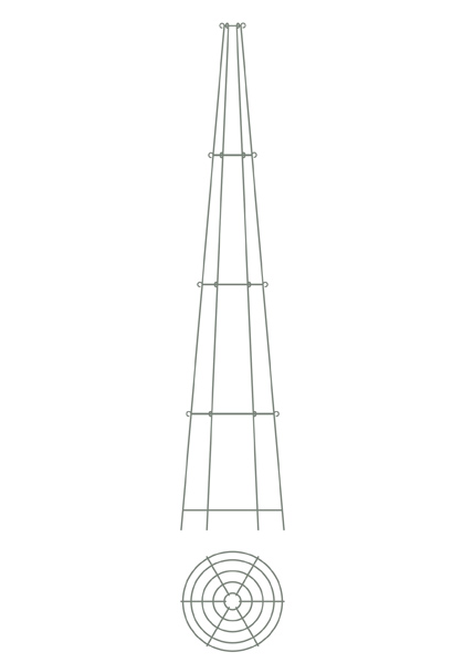 Four tier tall obelisk
