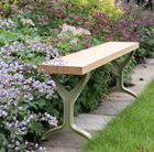 Oak beam trestle bench