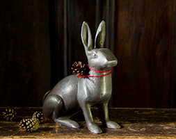 Cast aluminium rabbit