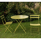Rome folding chair set of 2 - green