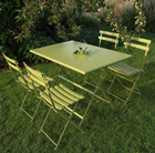 4 Seat Rome dining set - green