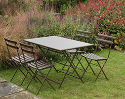 4 Seat Rome dining set - bronze