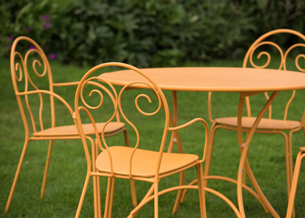 4 Seat Venice furniture set - orange
