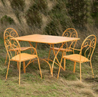 4 Seat Venice dining set - orange