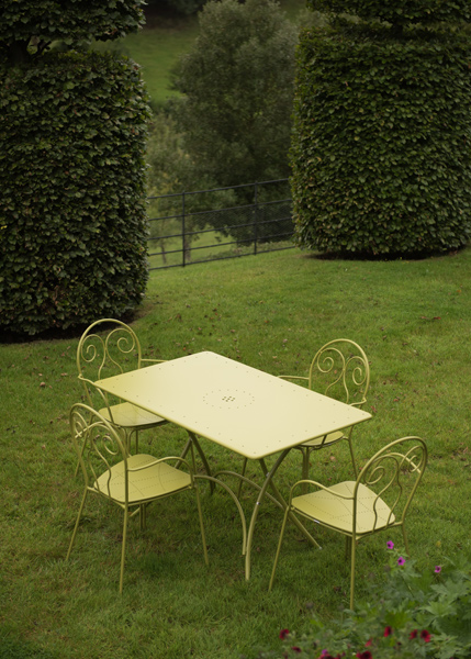 4 Seat Venice dining set - green