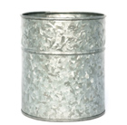 Embossed galvanised pot