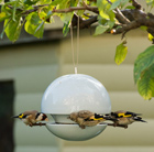 Glazed ceramic bird feeders