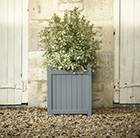 Downpipe grey hardwood square planter