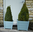 Duck egg blue wooden planters