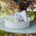 Enamel outdoor tray