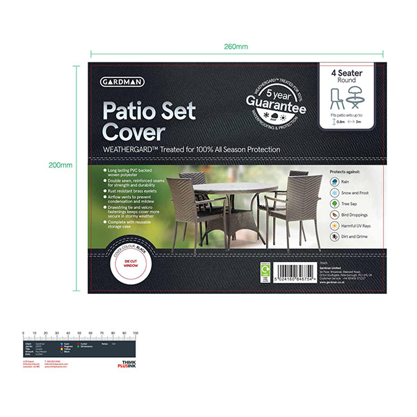 Buy Patio set cover Delivery by Crocus