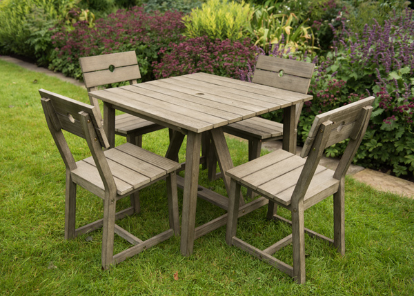 Square Garden Table And 4 Chairs: Buy Oban 4 Seat Square Dining Set