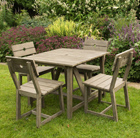 Oban 4 seat square dining set