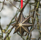 Hanging stars - antique brass