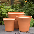 Waitrose garden terracotta pots set of 3