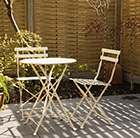 Waitrose cream bistro set