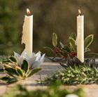 Flower taper candle holder