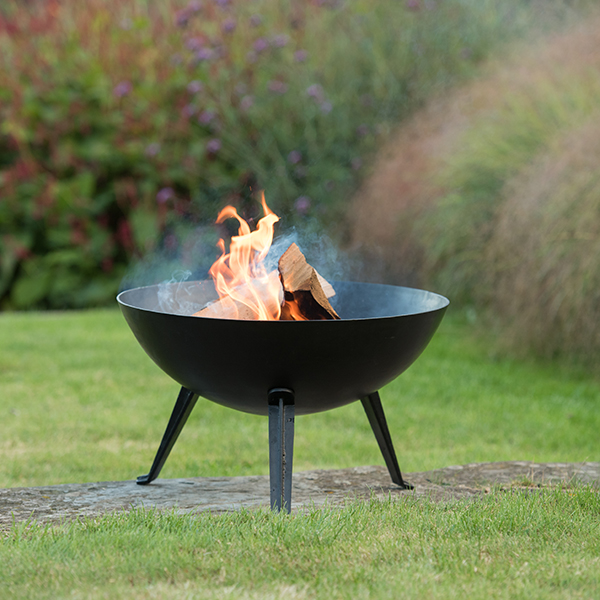 Brazier bowl with cast iron legs