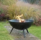 Fire pit bowl with cast iron legs