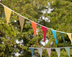 Fabric bunting - summer fiesta