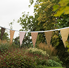 Fabric bunting – autumn hues