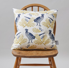 Pheasant and oak cushion
