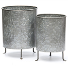 Galvanised planter on legs