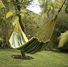 Canvas hammock - lime
