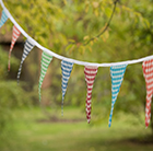 Fabric bunting - gingham