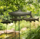 Pewter metal trout stake (double sided)