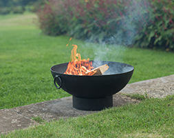 Small iron fire pit bowl