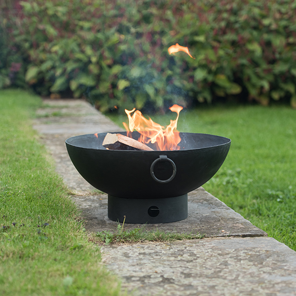 Brazier bowl with strip base