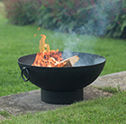 Fire pit bowl with strip base