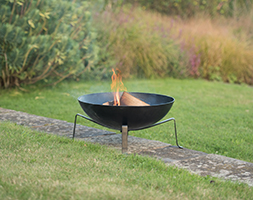 Brazier bowl with quad base