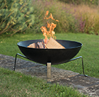 Fire pit bowl with quad base