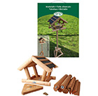Wood & bitumen bird table