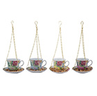 Hanging teacup feeder  - 4 colours