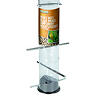 Heavy duty black nickel sunflower hearts feeder