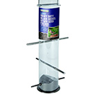 Heavy duty black nickel nyger seed feeder