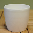 White round pot cover, 14cm