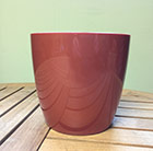 Copper round pot cover, 14cm