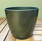 Green round pot cover, 18cm