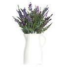 Fabric lavender in ceramic jug